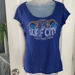 "Victoria's Secret Pink tee shirt. ""Surf city"". S."